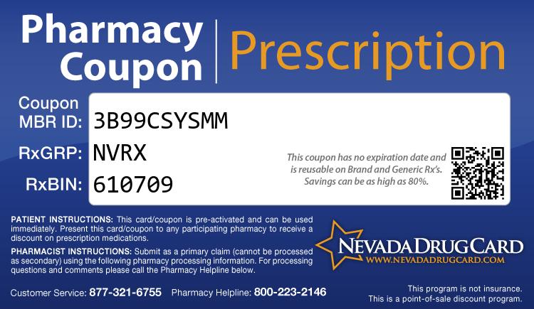 Nevada Drug Card - Free Prescription Drug Coupon Card